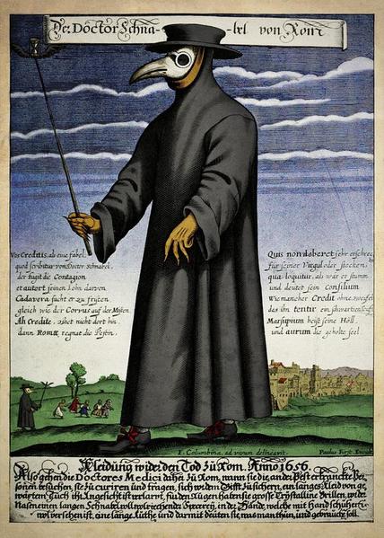 Der Doktor Schnabel von Rom [ PD ] via Wikipedia